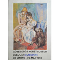 1960s Picasso Acrobat Family with Monkey on Louisiana Museum of Modern Art - Original Vintage Poster
