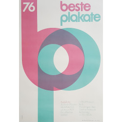 1976 Design Fonts Poster by Axel Bertram - Original Vintage Poster