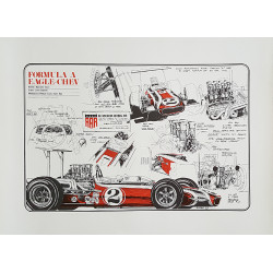 1969 Formula 1 Race Car Eagle-Chev - Original Vintage Poster