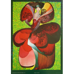 1985 Haute Couture Design from DRR - Original Vintage Poster