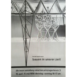 1958 German Industrial Exhibition Poster - Original Vintage Poster