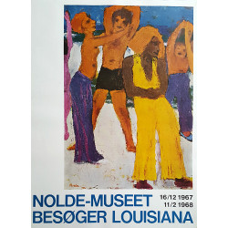 1967 Nolde on Louisiana Museum of Modern Art - Original Vintage Poster