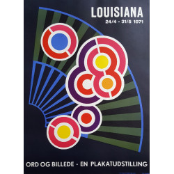 1971 Henning Damgård-Sørensen on Louisiana Museum of Modern Art - Original Vintage Poster