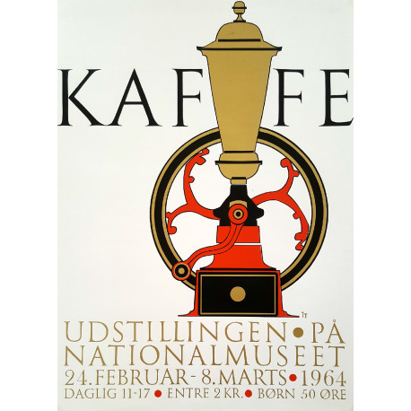 1964 Coffee Exhibition Poster - Original Vintage Poster