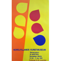 1982 Modernist Art by Ib Geertsen - Original Vintage Poster