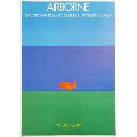 1984 Airborne Exhibition Poster by Arnoldi - Original Vintage Poster
