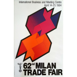 1984 Modernist Poster Fair of Milan by Lelo Cremonesi - Original Vintage Poster