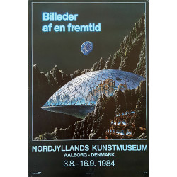 1984 Future Images Exhibition Poster - Original Vintage Poster