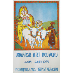 1975 Art Nouveau Exhibition Hungary - Original Vintage Poster