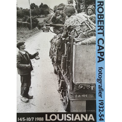 1988 Robert Capa Photo Exhibition on Louisiana - Original Vintage Poster