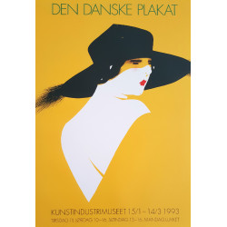1993 Danish Exhibition Poster by Sven Brasch - Original Vintage Poster