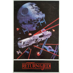 "1983 Star Wars ""Return of the Jedi"" Space Battle - Original Vintage Poster"