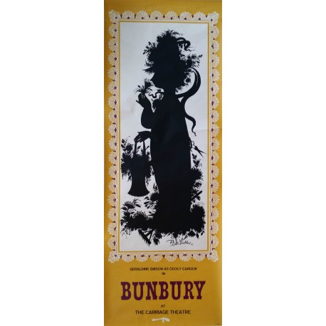 "1963 Bjørn Wiinblad's ""Bunbury"" at The Carriage Theater - Original Vintage Poster"