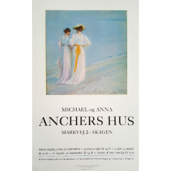 1980s Ancher's House Skagen Exhibition Poster - Original Vintage Poster
