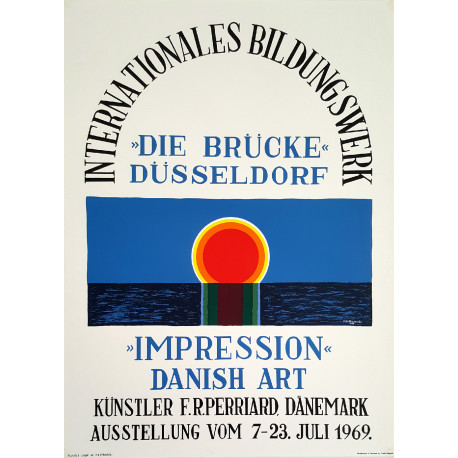 1969 Impression Danish Art Poster Exhibition - Original Vintage Poster