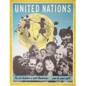 1950s United Nations Campaign Poster - Original Vintage Poster