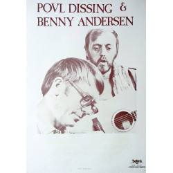 1981 Povl Dissing and Benny Andersen - Original Vintage Poster